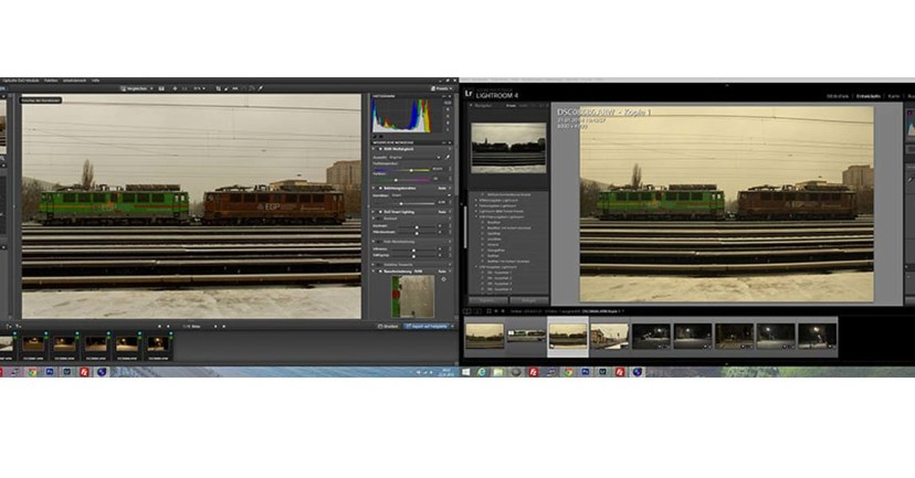DxO Optics Pro 9 vs. Adobe Lightroom 4.4