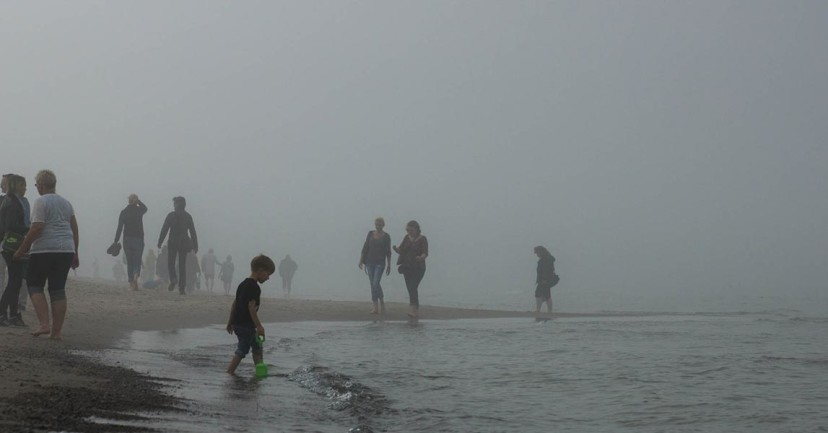 Nebel in Warnemünde