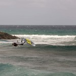 Windsurfer in Action in Las Chucharas