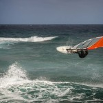 Windsurfer in Action in Las Chucharas/Lanzarote