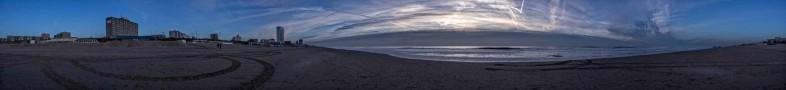 Zandvoort Panorama beim Sonnenuntergang