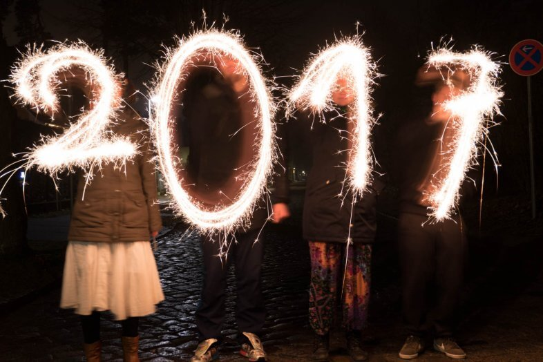Lightpainting zu Silvester